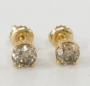 1.00 Carat Diamond Stud Earrings Round Cut 14K Yellow Gold K SI1 for Sale in Los Angeles, CA