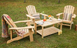 Outdoor furniture- adirondack chairs, sets, and wooden tables. for Sale in Louisburg, NC