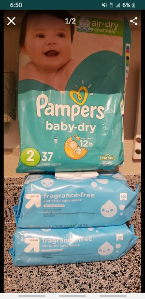 Pampers size 2 nd wipes for Sale in Garland, TX