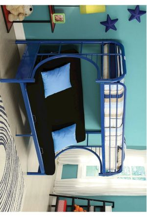 Erica Blue Metal Twin/Futon Bunk Bed | 4480 for Sale in Jessup, MD