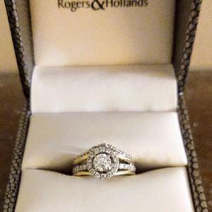 14 Karat Diamond Engagement Ring/Wedding Band for Sale in Aurora, IL