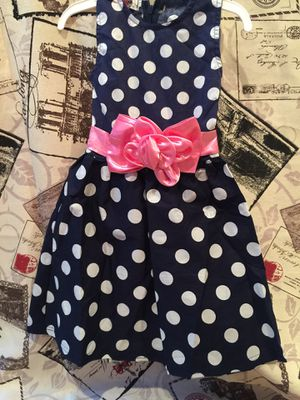Brand new girls Navy blue polka dot dress. for Sale in College Park, GA