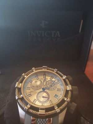 Invicta Reserve Bolt Black Stainless Steel Grey Tone for Sale in Las Vegas, NV