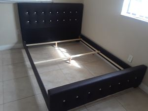 $275 Queen bed frame brand new free delivery same day for Sale in Pembroke Pines, FL