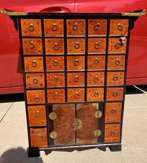 Vintage Chinese Apothecary Medicine Elm Wood Cabinet for Sale in Aliso Viejo, CA