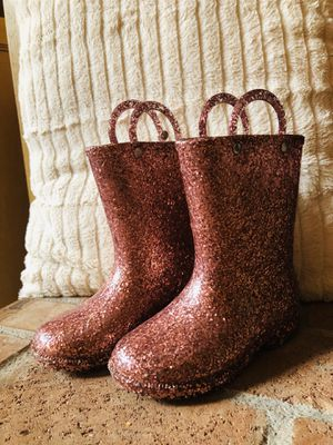 Size 8 toddler girl Western chief pink glitter rainboots for Sale in West Linn, OR