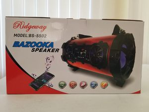Ridgeway bazooka bluetooth wireless speaker. for Sale in Houston, TX
