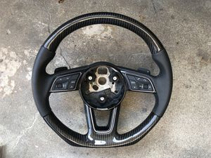 Audi Carbon Fiber Flat Bottom steering wheel paddle shifters A3 S3 A4 S4 A5 S5 A6 S6 A7 S7 Q5 SQ5 Q3 for Sale in Brooklyn, NY