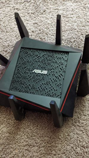 ASUS - AC5300 Tri-Band AC Gigabit Router - Black for Sale in Wurtsboro, NY