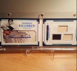 NATIONAL TREASURES HARMON KILLEBREW LEGENDS CUTS BOOKLET MATERIALS 4/10 for Sale in Wheaton, IL