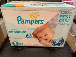 Pampers Swaddlers Sensitive diapers size 2 for Sale in Silver Spring, MD