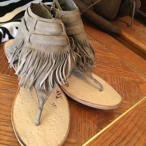 Juicy couture fringe grey sandals for Sale in Bakersfield, CA
