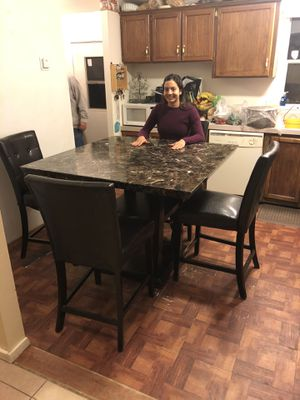 Kitchen Table with 6 matching chairs for Sale in Phelan, CA