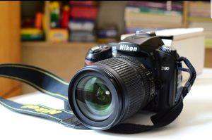 D90 with original box, 18-105mm, 55-200mm lenses for Sale in San Antonio, TX
