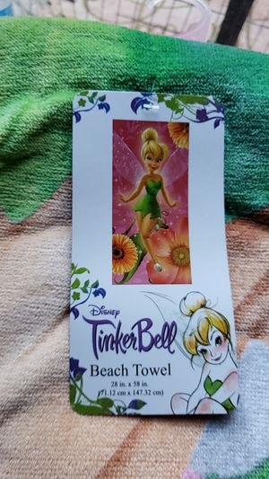 Brand new Tinkerbell beach towel for Sale in East Los Angeles, CA