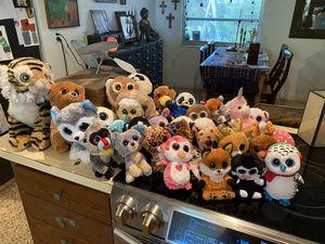 Big lot TY big eyed stuffies for Sale in Sarasota, FL