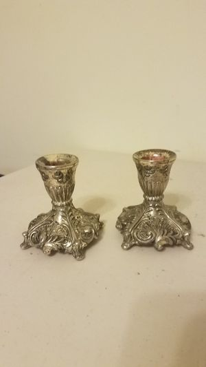 Silver candle holder for Sale in Raleigh, NC