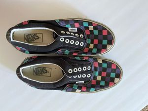 Purple, blue, pink and black checkered vans for Sale in Modesto, CA