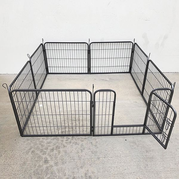 "Brand New $70 Heavy Duty 24"" Tall x 32"" Wide x 8-Panel Pet Playpen Dog Crate Kennel Exercise Cage Fence Play Pen"