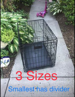 """Dog Kennels for sale. 18"""", 24"""", 36"""" and a 30"""" that is currently pending PU. $18-$35. PICK UP IN Washington Crossing. Please, SERIOUS INQUIRIES ONLY! for Sale in Newtown, PA"""