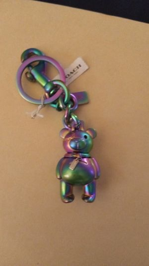 Coach iridescent holographic bear Charm Key Chain Ring F87166 SA for Sale in San Antonio, TX