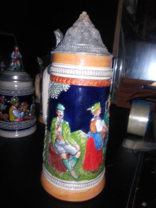 Lg vintage Germany beer mug g e r z