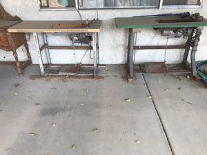 Sewing station with sewing machines/ upholstery for Sale in Pomona, CA