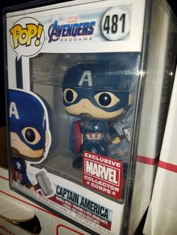 Funko pop Captain america mjolnir endgame avengers collector corps marvel for Sale in Ontario,  CA