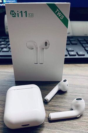 New in box Generic Apple style ear pod earphone Bluetooth headset rechargeable with charging case like airpods for Sale in Los Angeles, CA