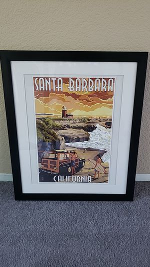 Santa Barbara picture with frame for Sale in Antioch, CA
