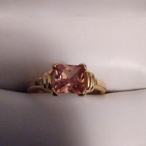 Size 8 Golden Topaz Engagement Ring 24K Yellow Heatbonded Gold 925 Sterling Ring for Sale in Lombard, IL