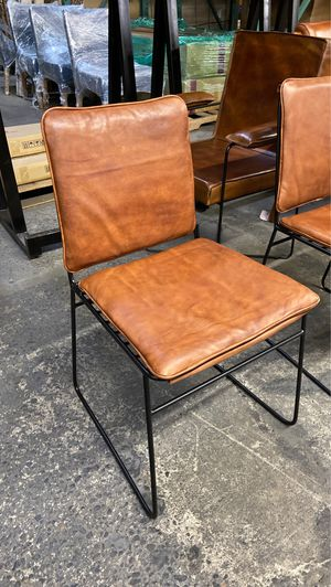 Genuine Leather & Steel Chairs for Sale in Vancouver, WA