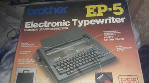 Brother electronic typewriter ep5 for Sale in Ashland, KY