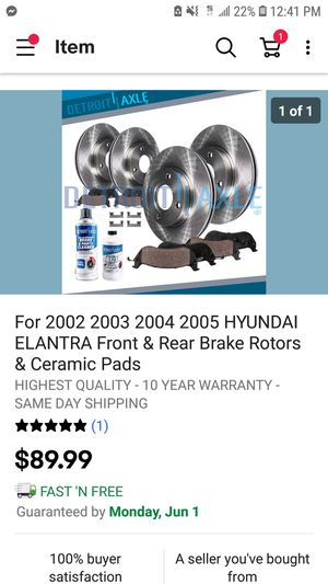 2001 to 2006 hyundai elantra front rear rotors pads for Sale in IL, US