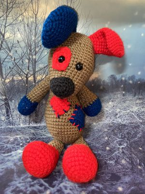 "Handmade knit dog 14"" plush for Sale in Bellflower, CA"