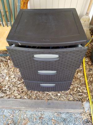 3 drawer plastic storage for Sale in Covington, WA