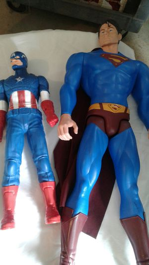 Captain America and Superman figures for Sale in Powder Springs, GA