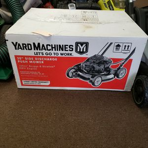 """NEW Yard Machines 20"""" Push Lawnmower 125cc for Sale in Newington, CT"""