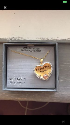 18k gold Plated heart pendant necklace for Sale in Greenville, SC