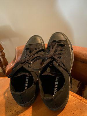 Converse Black Chucks Size 6mens 8womens for Sale in Tacoma, WA