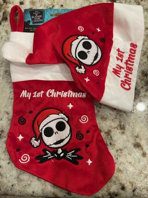 Nightmare Before Christmas My 1st Christmas Santa Hat & Stocking Set for Sale in Mesa, AZ