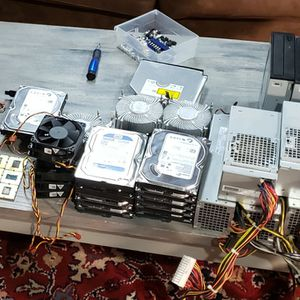 Various Computer Parts - Processors, DVD Drives, HDD, PSU, DDR3, Fans, Cables for Sale in Oshkosh, WI
