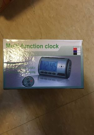 HD spy alarm clock with 1080*1920 camera - remote control - awesome for Sale in Tampa, FL