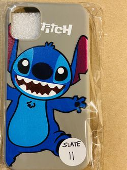 Brand new cool iphone 11 REGULAR 6.1 case cover rubber silicone SLATE GREY Lilo And Stitch Hawaiian Disneyland disney love fundas girls womens pretty for Sale in Colton,  CA