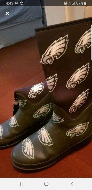 Philadelphia eagles rain boots for Sale in Wichita, KS