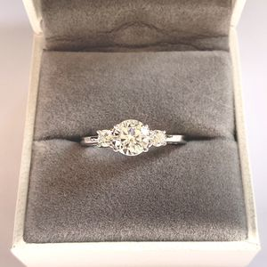 NEW! Fine Sterling Silver S926 1.5CT Three Stone Engagement Ring , Please See Details for Sale in Redlands, CA