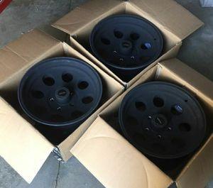 5x5 bolt pattern Procomp flat black 16x8 wheels for Sale in Eastvale, CA