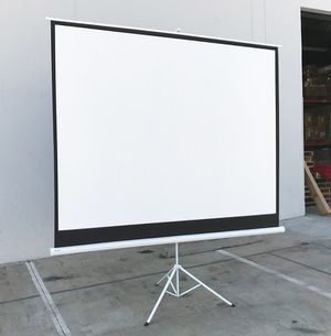 """$65 NEW Tripod 120"""" 4:3 Projector Screen Theater Office Pull Down Projection for Sale in Pico Rivera, CA"""