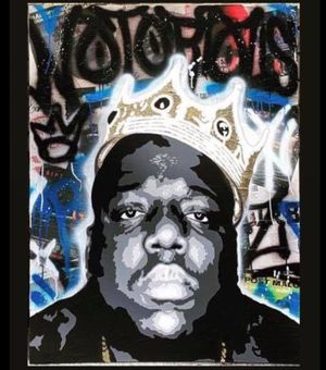 Custom Painting of Biggie. 36x48. Would make a great Xmas gift. Price reduced. for Sale in Mabelvale, AR