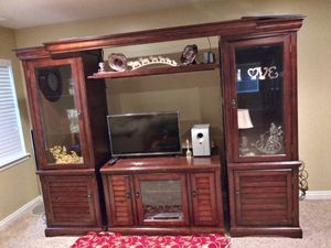 Entertainment center with free 50 inch sony Tv for Sale in Salt Lake City, UT